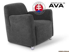 Fotel tmavošedý AVA PIXY 1 (Orinoco 96)