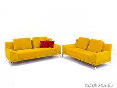 Sedacia súprava 3+2 žltá ROGY Carabu HP 131