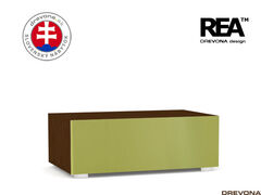 Skrinka wenge/zelená REA REBECCA 1