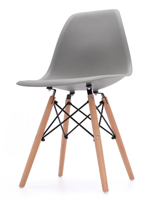 adce82c06914 Jedálenská stolička plastová tmavo šedá AMY
