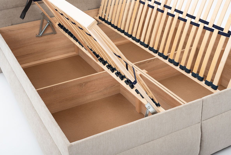 7004d0dd958eb Manželská posteľ 180 cm šedo béžová LUNA 1 | DREVONA
