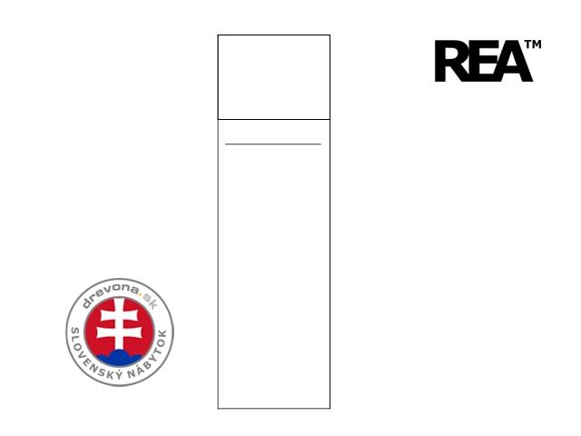 Skriňa vešiaková biela 1-dv. REA CATANIA 1