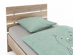 Drevené postele š.80~140 cm