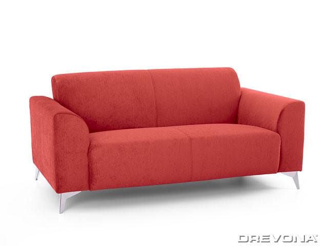 2-sed talianský design červený AVA SIMPLY London 308