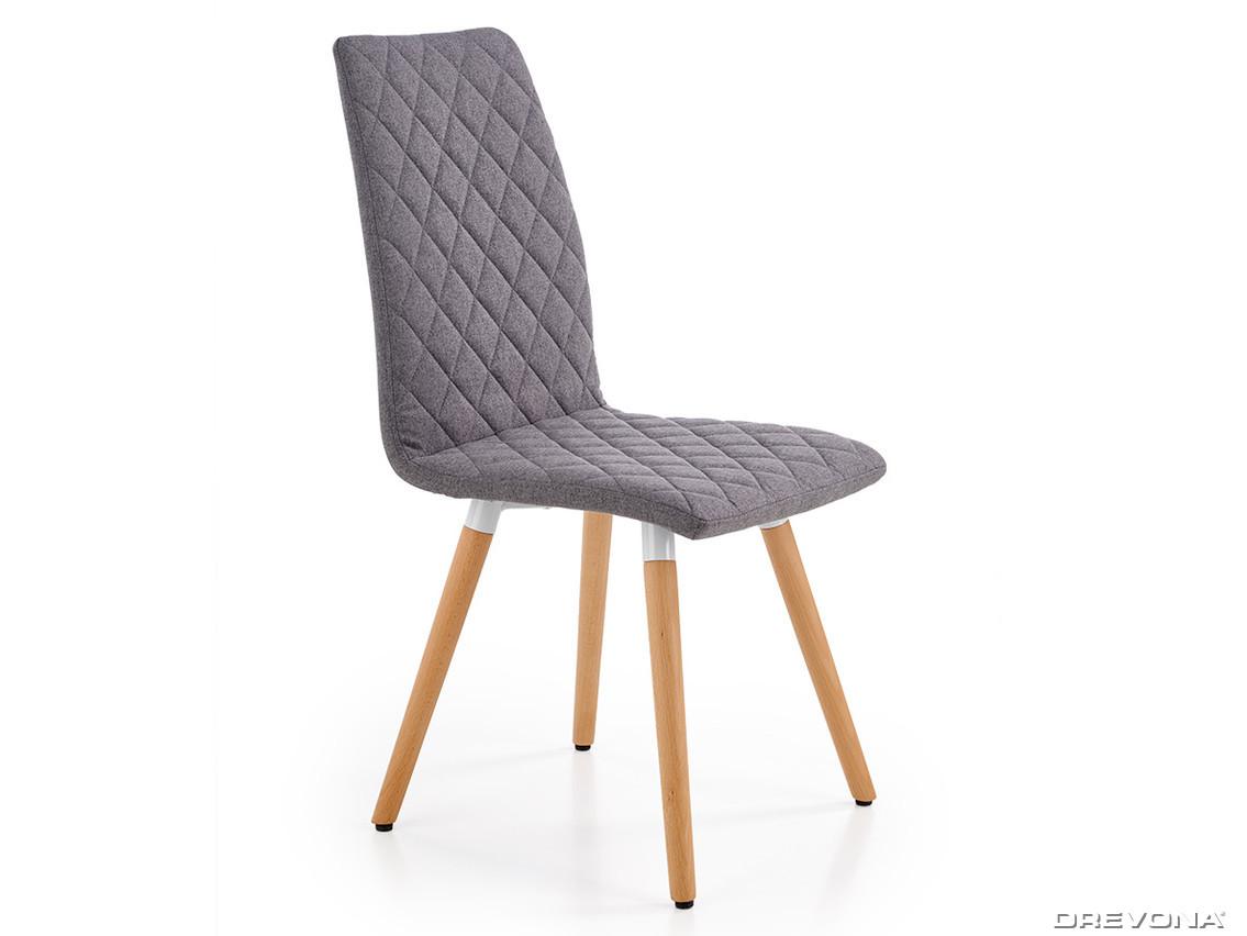 44ba9dd0eb7b7 Jedálenská stolička šedá K282 | DREVONA