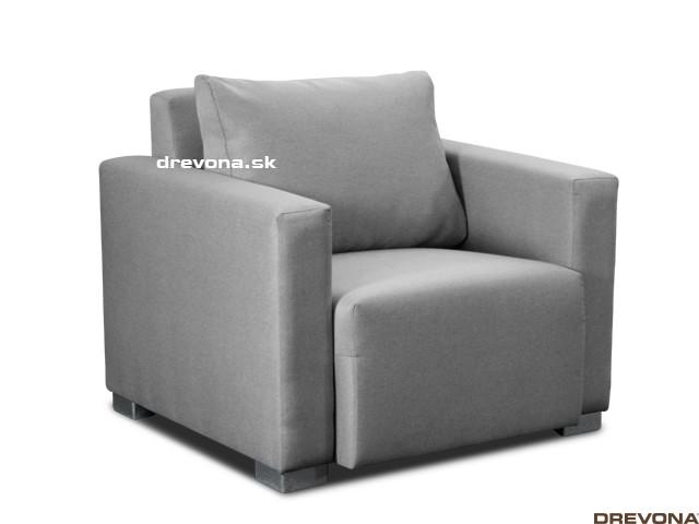 Fotela šedá látka STACY