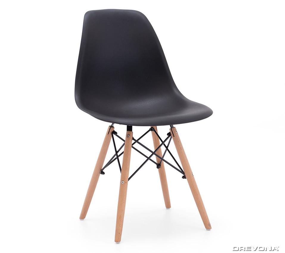 9b22b8e308f5 Jedálenská stolička plastová čierna AMY