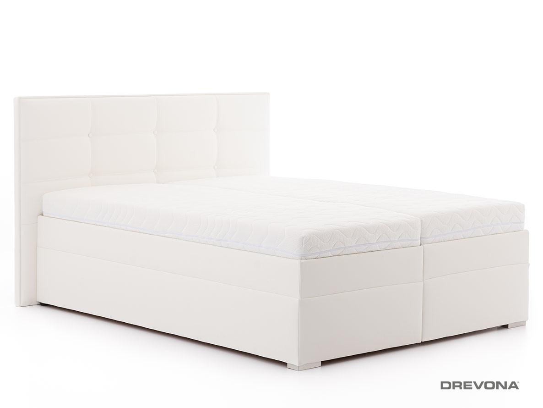 8a304a226f3cd Manželská posteľ 180 cm biela koženka IMERIA 2 | DREVONA