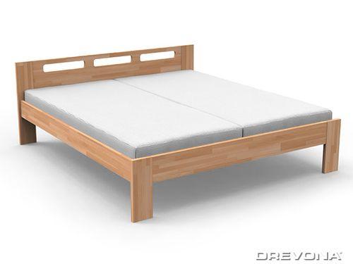 Masívna manželská posteľ NELA 180x200 buk