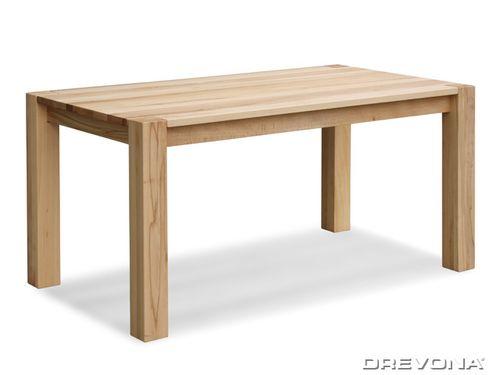 Masívny jedálenský stôl masív buk 160 x 90 cm BASE B