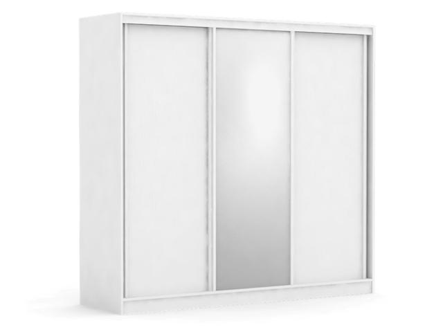 DREVONA09 Biela skriňa so zrkadlom ATLANTA 3