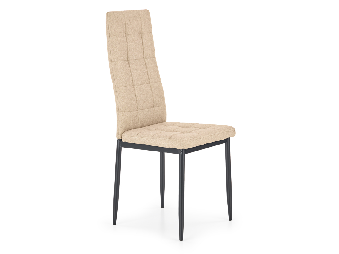 DREVONA09 Jedálenská stolička s kovovými nohami béžová K292