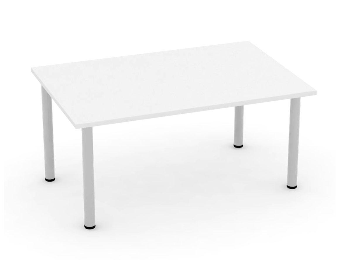 DREVONA09 Jedálenský stôl 120 biely 4 nohy FLAT 2