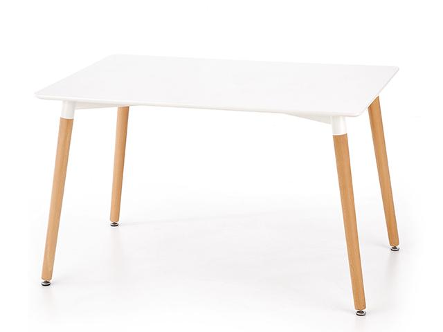 DREVONA09 Jedálenský stôl 120 x 80 biely SOCRATES