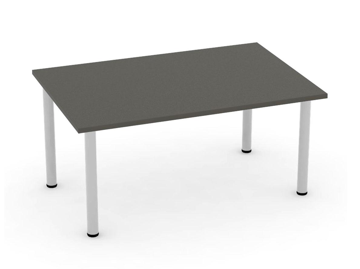 DREVONA09 Jedálenský stôl 120 x 80 šedý 4 nohy FLAT 2