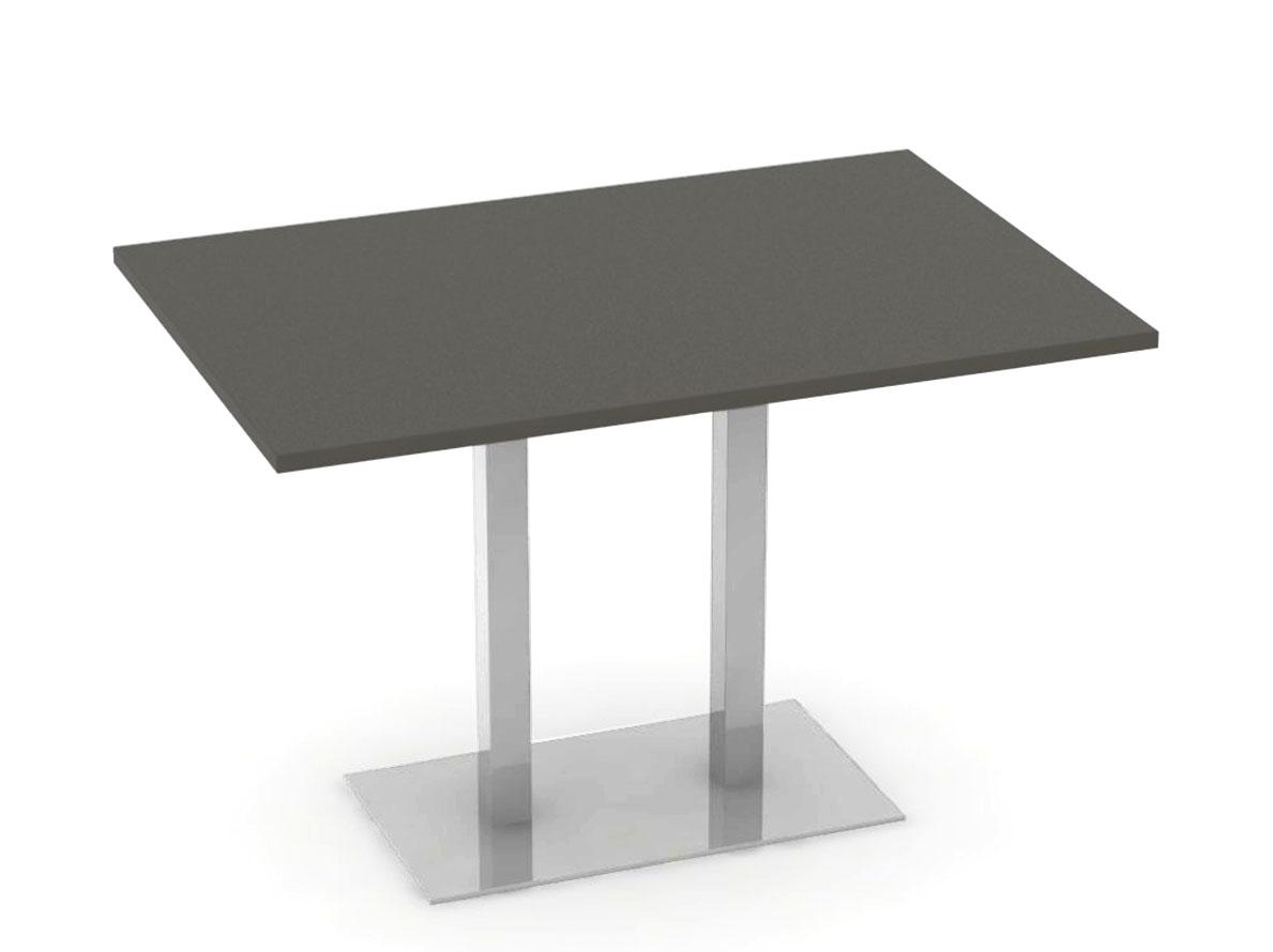 DREVONA09 Jedálenský stôl 120 x 80 šedý + nerez FLAT 2