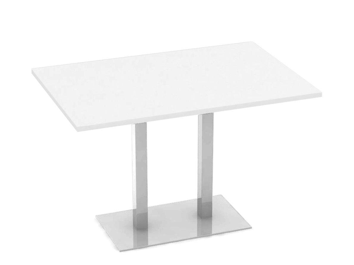 DREVONA09 Jedálenský stôl 120 x 80 biely FLAT 2