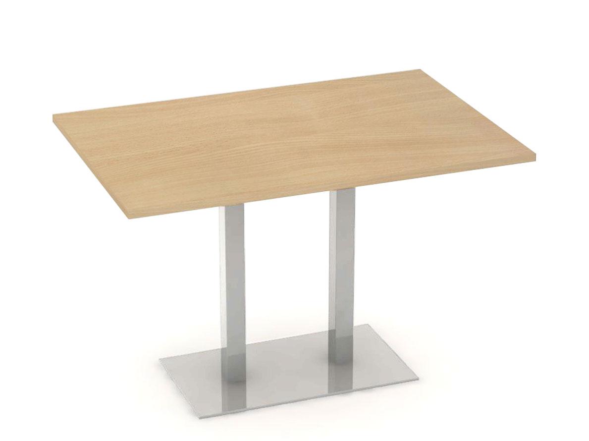 DREVONA09 Jedálenský stôl 120 x 80 buk nerez FLAT 2