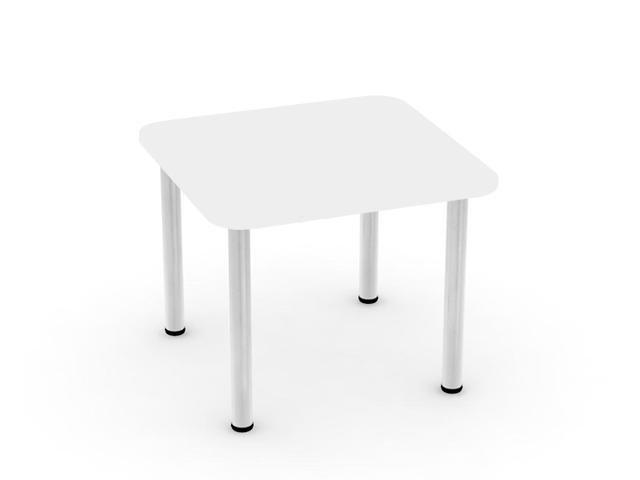 DREVONA09 Jedálenský stôl biely 80x80 REA FLAT 5