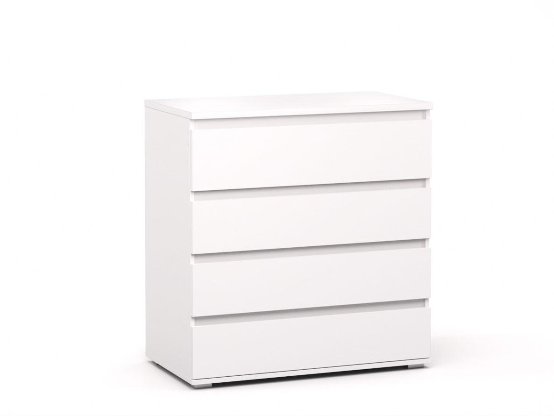 DREVONA09 Komoda 4x- zásuvka biela REA AMY 3