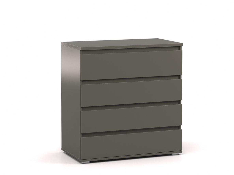 DREVONA09 Komoda 4x- zásuvka šedá REA AMY 3