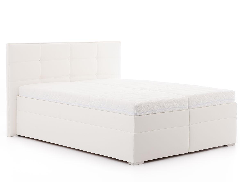 DREVONA03 Manželská posteľ 160 x 200 biela ANDORA, koženka Eternity 11
