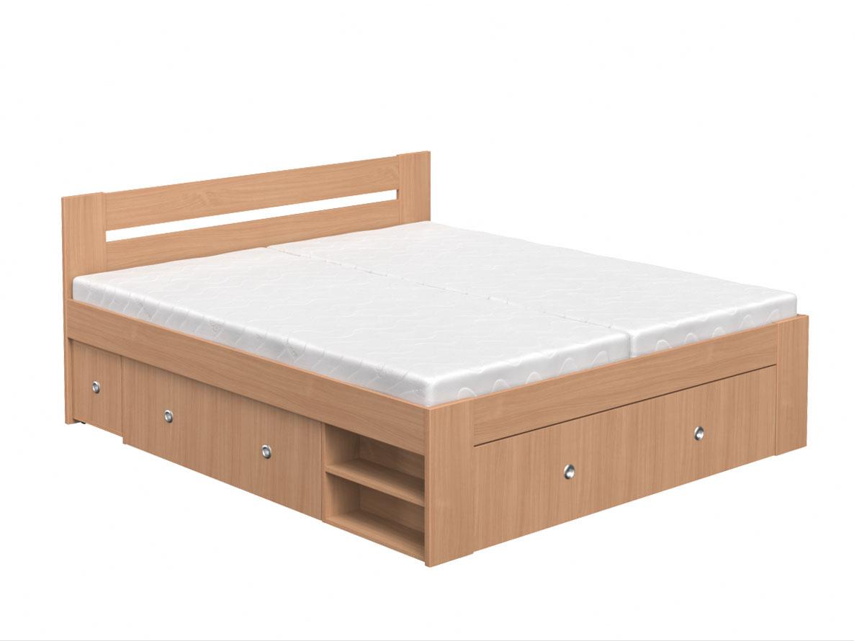 DREVONA09 Manželská posteľ 180 cm buk LARISA