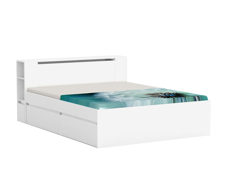 DREVONA09 Manželská posteľ biela 160 cm REA AMY
