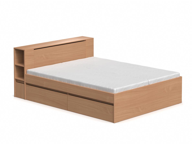 DREVONA09 Manželská posteľ buk 160 cm REA AMY