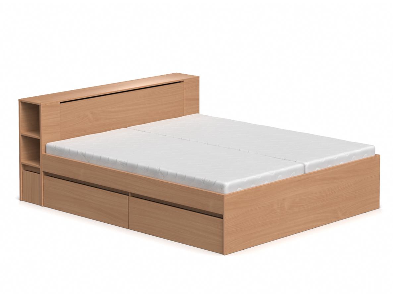 DREVONA09 Manželská posteľ buk 180 cm REA AMY
