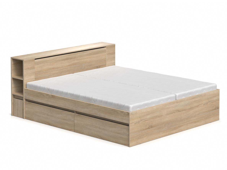 DREVONA09 Manželská posteľ dub bardolino 180 cm REA AMY
