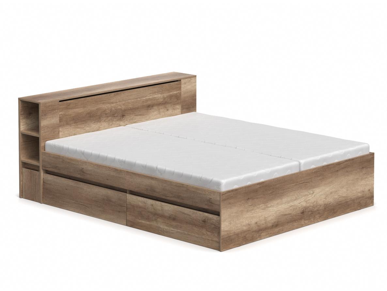 DREVONA09 Manželská posteľ dub canyon 180 cm REA AMY