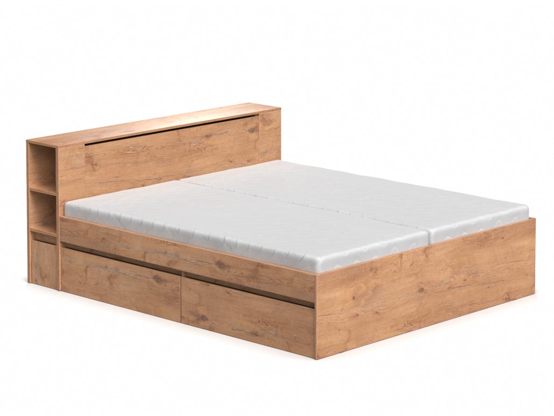DREVONA09 Manželská posteľ dub lancelot 180 cm REA AMY