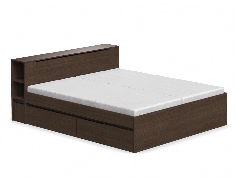 DREVONA09 Manželská posteľ wenge 180 cm REA AMY