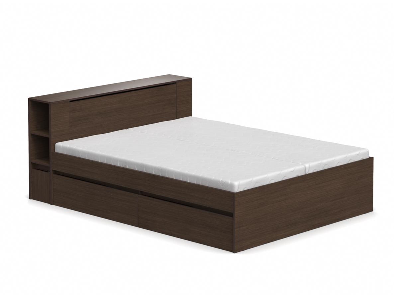 DREVONA09 Manželská posteľ wenge 160 cm REA AMY