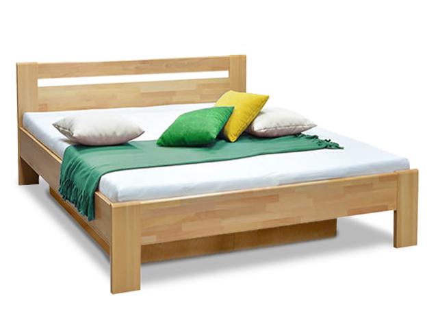 DREVONA01 Manželská posteľ z bukového masívu 160x200 MATE 2