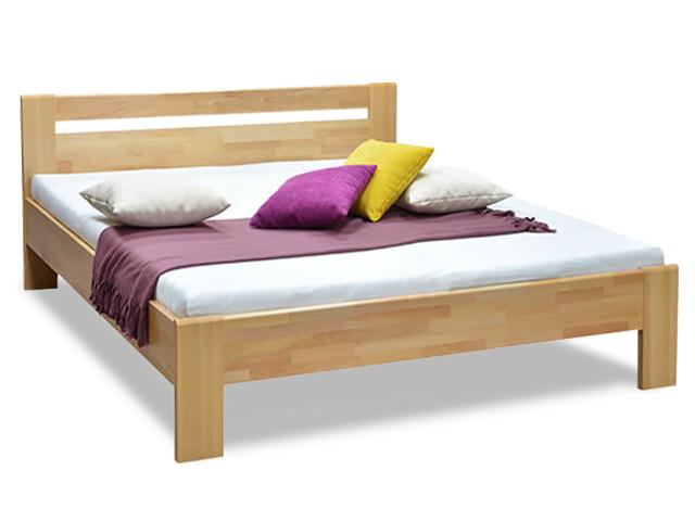 DREVONA01 Manželská posteľ z masívu buk 180x200 MATE