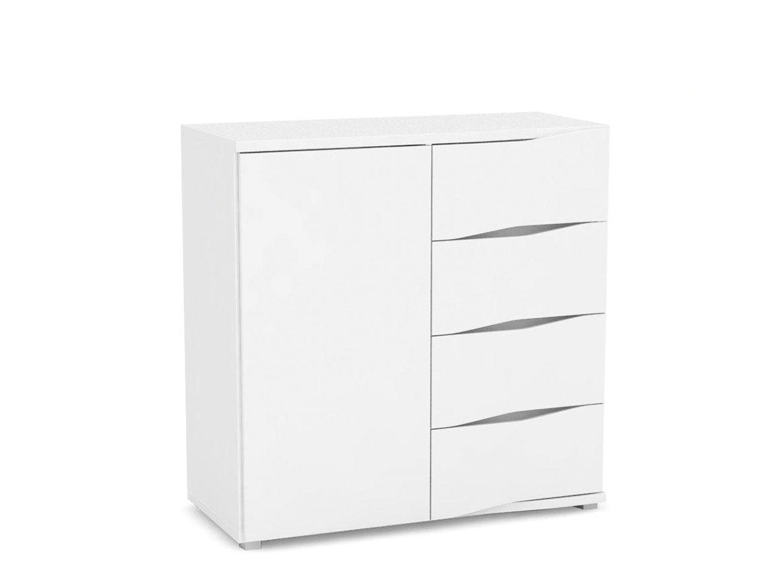 DREVONA09 Moderná kombinovaná komoda biela WAVE 6