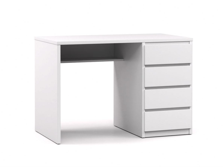 DREVONA09 Písací stolík pravý biely RP POLO 2