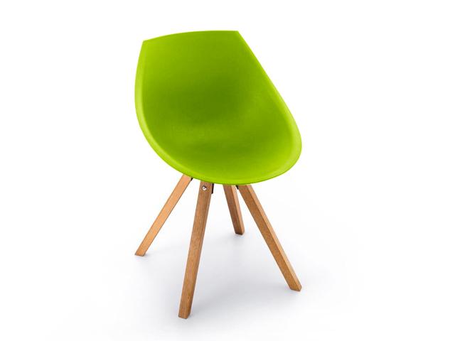 DREVONA09 Plastová stolička kuchynská zelená GORKA