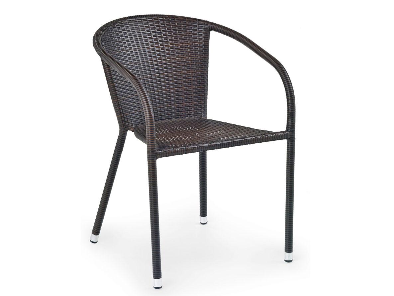 DREVONA09 Ratanová stolička hnedá MIDAS