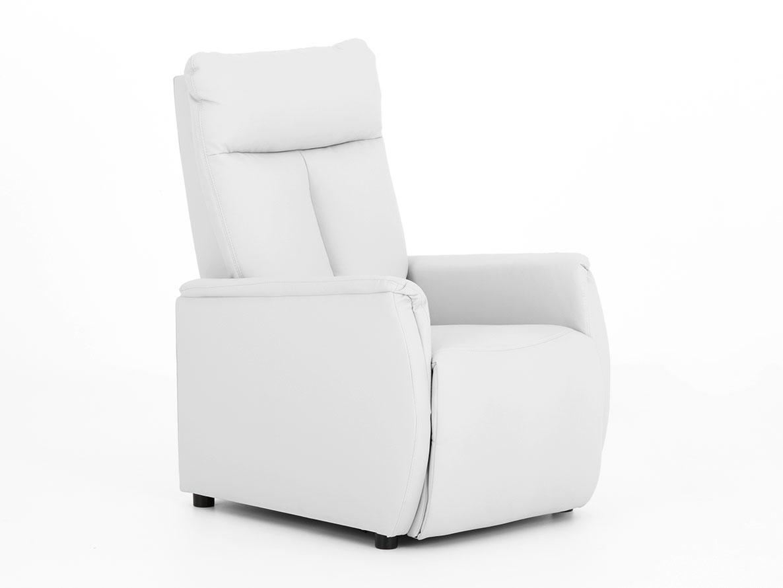 DREVONA09 Relaxačné kreslo biele TAPIO