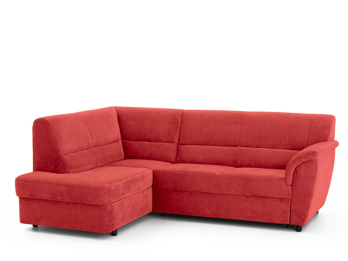 DREVONA09 Rohová sedacia súprava červená ľavá AVA SENZI London 308