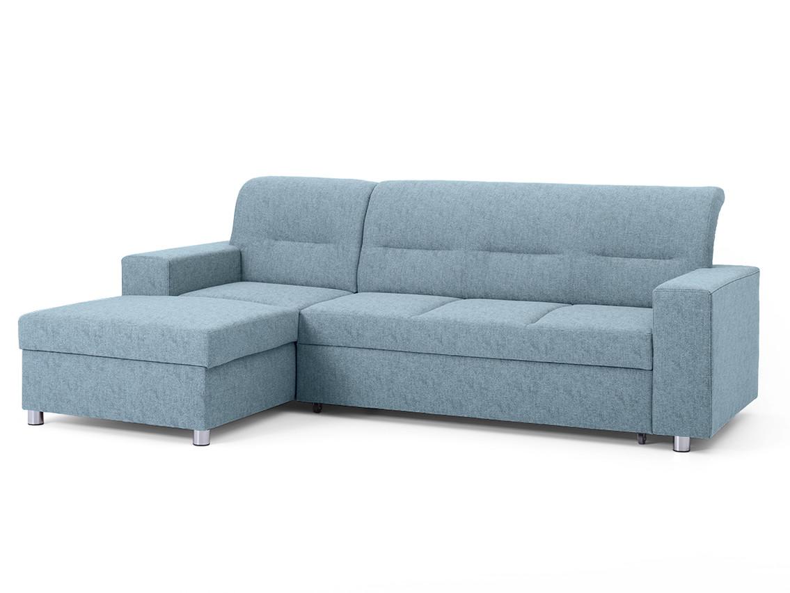 DREVONA09 Rohová sedačka ľavá modrá ACRUX Gusto 72