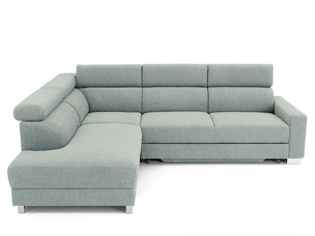 DREVONA09 Rohová sedačka ľavá šedá AVA TEMPO Ocean 824