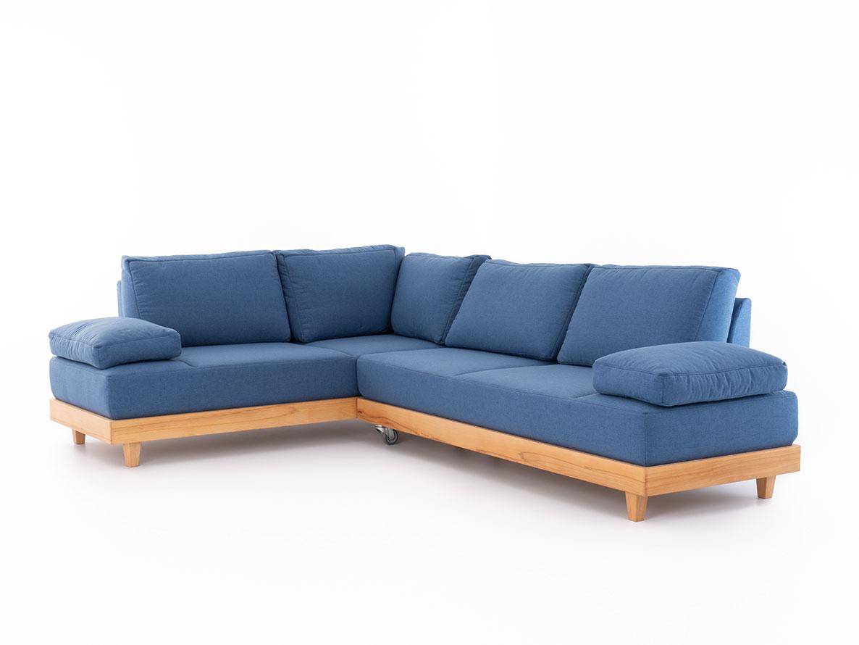 DREVONA17 Rohová sedačka modrá LANA Jade 9402