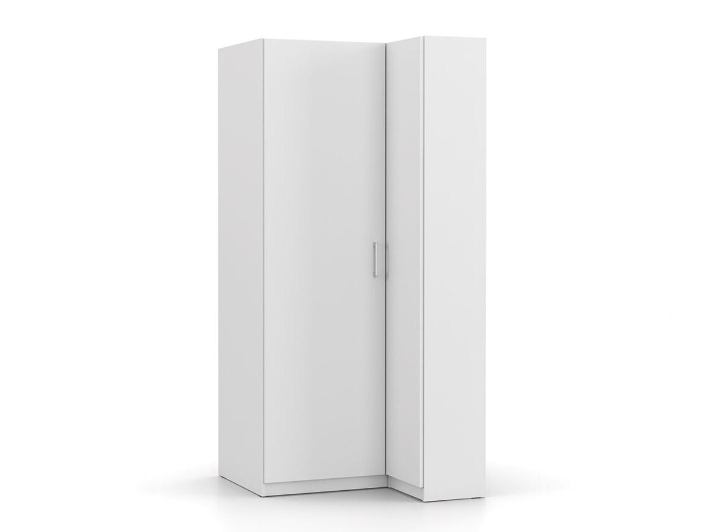 DREVONA03 Rohová skriňa biela BASIC 2DV ROH