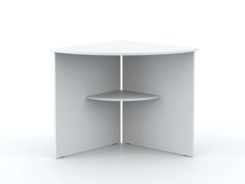 DREVONA09 Rohový stôl biely OFFICE 66