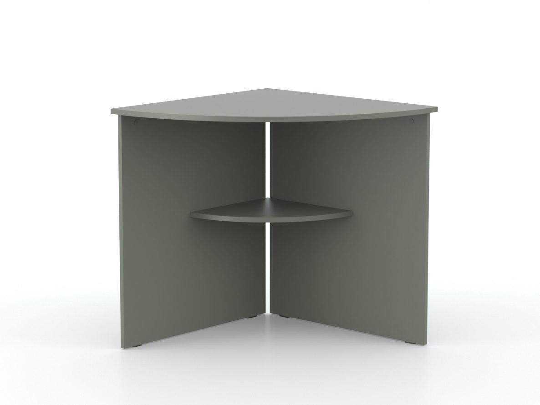 DREVONA09 Rohový stôl oblúk grafit OFFICE 66