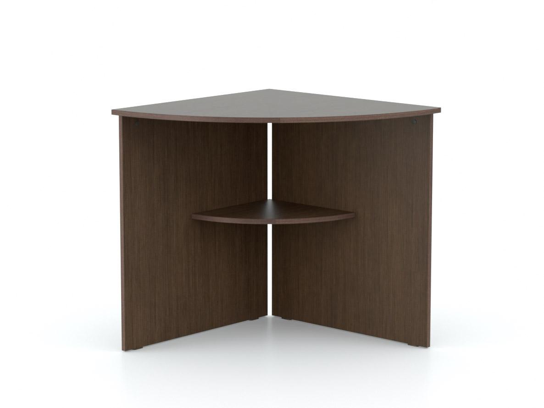 DREVONA09 Rohový stôl oblúk wenge OFFICE 66